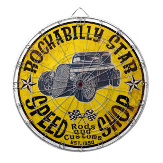 Hot Rods Speed shop Dartboard