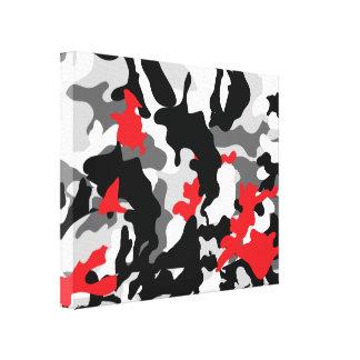 Hot Safari black and white Stretched Canvas Print