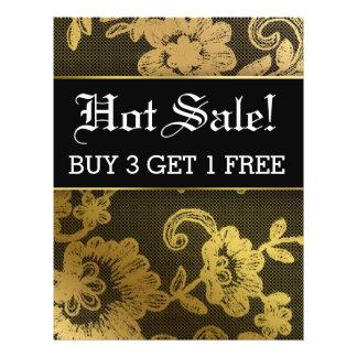 HOT Sale Gold Black Lace Flyer