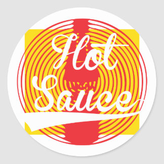 Hot Sauce! Classic Round Sticker