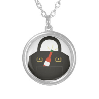 Hot Sauce Round Pendant Necklace