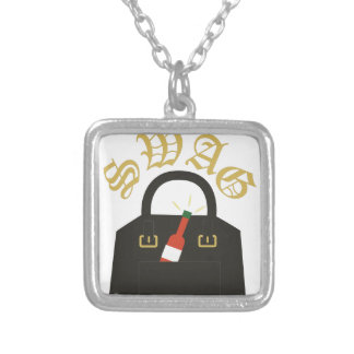 Hot Sauce Swag Silver Plated Necklace