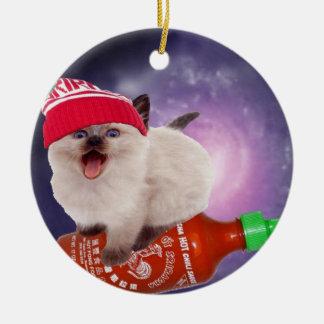 hot saucin' kat christmas ornament