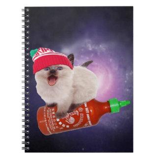 hot saucin' kat spiral notebook