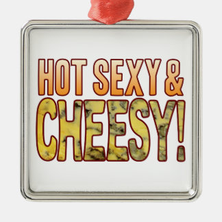 Hot Sexy Blue Cheesy Christmas Ornament