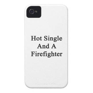 Hot Single And A Firefighter iPhone 4 Case-Mate Cases