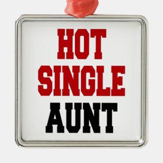 Hot Single Aunt Silver-Colored Square Decoration