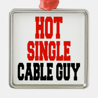 Hot Single Cable Guy Silver-Colored Square Decoration