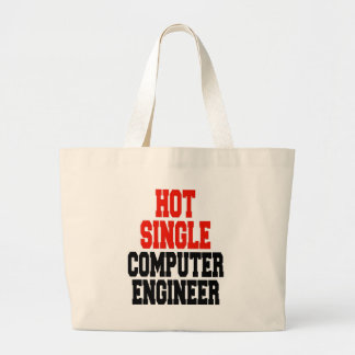 Hot Single Computer Engineer Large Tote Bag