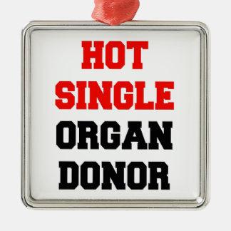 Hot Single Organ Donor Silver-Colored Square Decoration