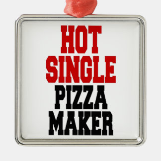 Hot Single Pizza Maker Christmas Ornament
