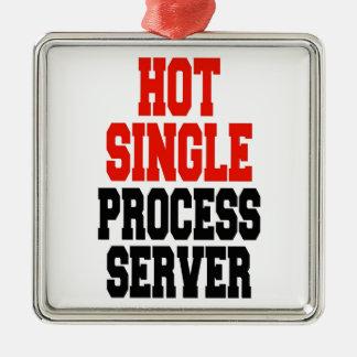 Hot Single Process Server Silver-Colored Square Decoration