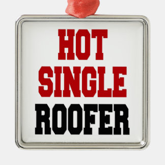 Hot Single Roofer Silver-Colored Square Decoration