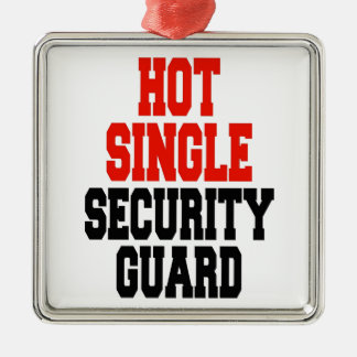 Hot Single Security Guard Christmas Ornament