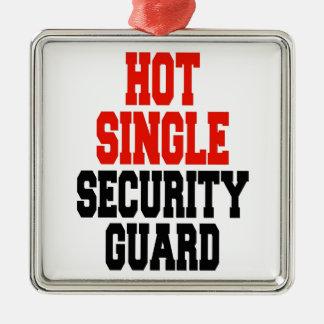 Hot Single Security Guard Silver-Colored Square Decoration