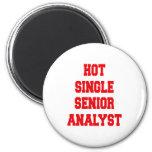 Hot Single Senior Analyst 6 Cm Round Magnet