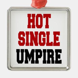 Hot Single Umpire Silver-Colored Square Decoration