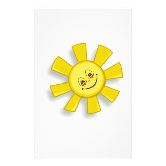Hot Smiling Sun Stationery Paper