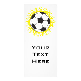 hot soccer ball personalized rack card