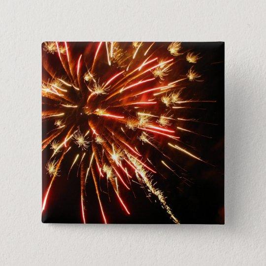 Hot Sparks 15 Cm Square Badge
