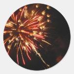 Hot Sparks Round Sticker