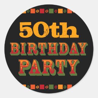 Hot & Spicy Birthday Party Sticker