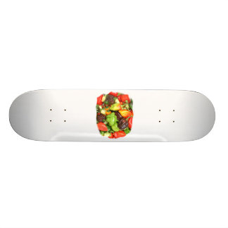 Hot Spicy Peppers Different Species, Spice it up! Custom Skateboard