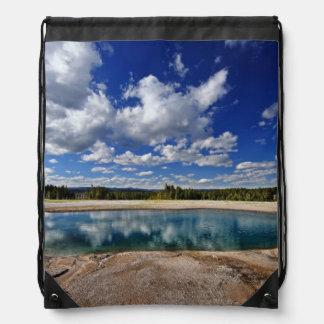 Hot Spring Drawstring Bag