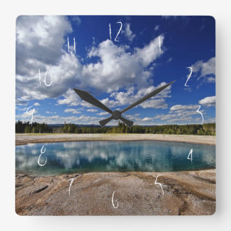 Hot Spring Square Wall Clock