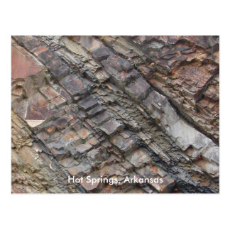 Hot Springs, AR Rock Layers Central Ave Postcard