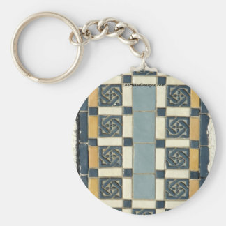 Hot Springs, AR The Maurice Tiles Gifts Apparel Basic Round Button Key Ring