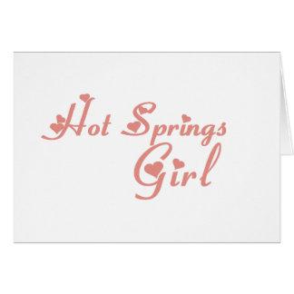 Hot Springs Girl tee shirts Greeting Card
