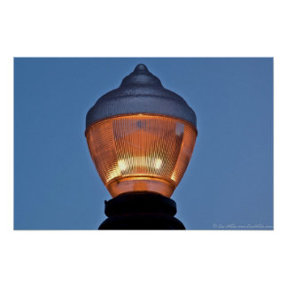 Hot Springs Historic District Street Lamp Poster