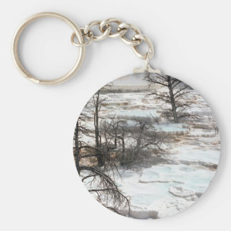 Hot Springs in New Zealand Keychains