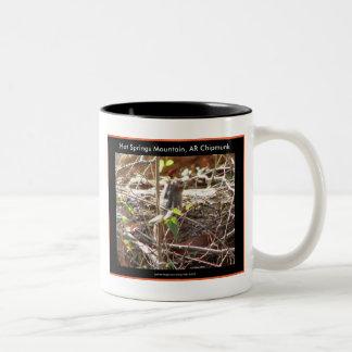 Hot Springs Mountain, Arkansas Chipmunk Gifts Two-Tone Coffee Mug