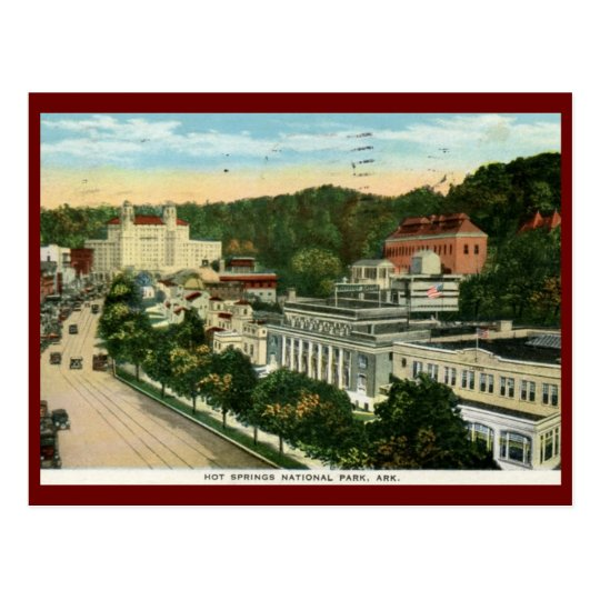 Hot Springs National Park, AR Vintage Vintage Postcard