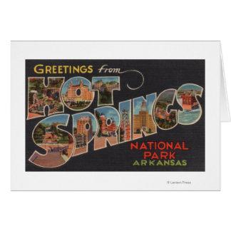Hot Springs National Park, Arkansas (Blue) Card