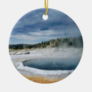 Hot Springs- Yellowstone Christmas Ornament