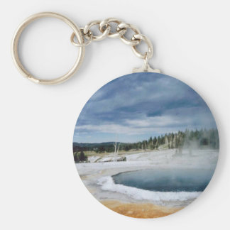 Hot Springs-Yellowstone Key Ring