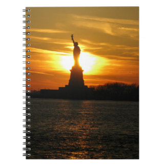 hot statue of liberty spiral note books