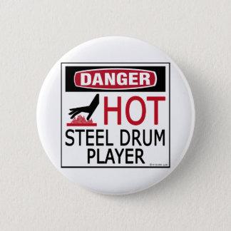 Hot Steel Drum Player 6 Cm Round Badge
