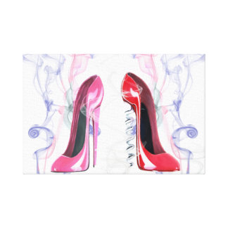 Hot Stiletto's! Wrapped Canvas