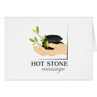 Hot Stone Massage Card