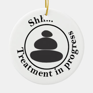 Hot Stone Massage Do Not Disturb Christmas Ornament