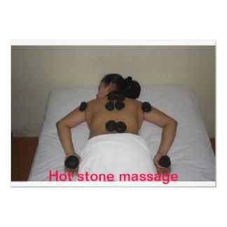 hot stone massage 5x7 paper invitation card
