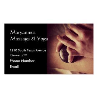 Hot Stone Massage Photo Business Card Template