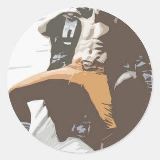 Hot Stud 5 Classic Round Sticker