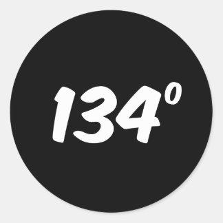 Hot Stuff 134 Degrees of Hotness Round Sticker