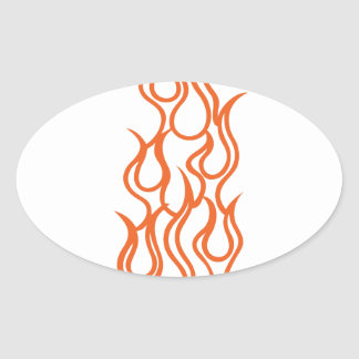 Hot Stuff Oval Sticker