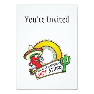 Hot Stuff Spicy Red Pepper Mexico 13 Cm X 18 Cm Invitation Card